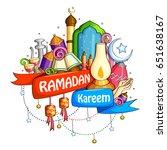 vector illustration of ramadan... | Shutterstock .eps vector #651638167