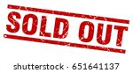 square grunge red sold out stamp | Shutterstock .eps vector #651641137