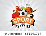 vector sport and exercise club... | Shutterstock .eps vector #651641797