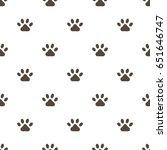 paw print vector seamless... | Shutterstock .eps vector #651646747