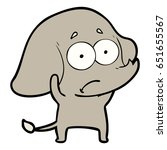 cartoon unsure elephant   Shutterstock .eps vector #651655567