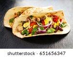 beautiful tasty appetizing... | Shutterstock . vector #651656347