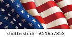 national flag of united states... | Shutterstock .eps vector #651657853