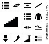 down icon. set of 13 filled...
