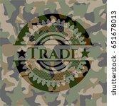 trade camo emblem | Shutterstock .eps vector #651678013