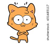 cartoon surprised cat | Shutterstock .eps vector #651685117