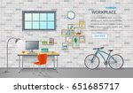 stylish and modern office... | Shutterstock . vector #651685717
