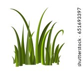 icon of grass. | Shutterstock .eps vector #651693397