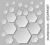 abstract monochrome 3d design.... | Shutterstock .eps vector #651694387
