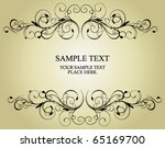 vintage frame | Shutterstock .eps vector #65169700
