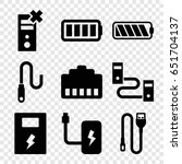 charger icons set. set of 9...   Shutterstock .eps vector #651704137