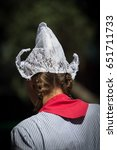Traditional Lace Bonnet Worn B...