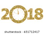 happy new year 2018  | Shutterstock .eps vector #651712417