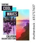 photo print california beach...   Shutterstock . vector #651717637