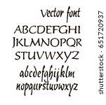 handwritten alphabet letters... | Shutterstock .eps vector #651720937