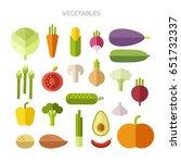 vector illustration. collection ... | Shutterstock .eps vector #651732337