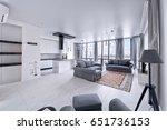 interior of the kitchen living... | Shutterstock . vector #651736153