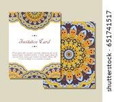 retro card with mandala.... | Shutterstock .eps vector #651741517