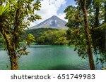 arenal volcano in costa rica.    Shutterstock . vector #651749983