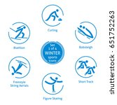 winter sports icons  set 1 of 4 ... | Shutterstock .eps vector #651752263