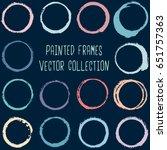 round paint brush strokes ... | Shutterstock .eps vector #651757363