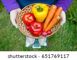 fat woman wants to lose weight... | Shutterstock . vector #651769117