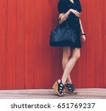 close up of stylish female... | Shutterstock . vector #651769237