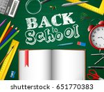 back to school background | Shutterstock .eps vector #651770383