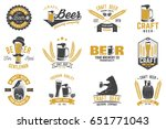set of craft beer badges with... | Shutterstock .eps vector #651771043