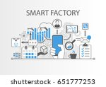 smart factory or industrial... | Shutterstock .eps vector #651777253