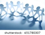 team of paper chain people | Shutterstock . vector #651780307