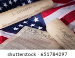 united states declaration of... | Shutterstock . vector #651784297