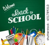 back to school background with...   Shutterstock .eps vector #651789313