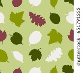 seamless pattern with... | Shutterstock .eps vector #651791323