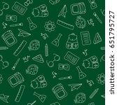 back to school doodles in... | Shutterstock .eps vector #651795727