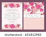 vintage wedding invitation | Shutterstock .eps vector #651812983