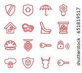 protect icons set. set of 16... | Shutterstock .eps vector #651819517