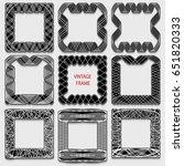 set of vintage calligraphic... | Shutterstock . vector #651820333