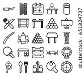 table icons set. set of 25... | Shutterstock .eps vector #651824737