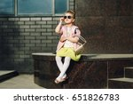 beautiful little girl in... | Shutterstock . vector #651826783