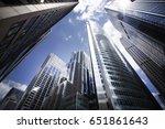 chicago skyscrapers on wacker... | Shutterstock . vector #651861643