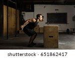 handsome strong hispanic man...   Shutterstock . vector #651862417