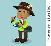 african journalist character | Shutterstock . vector #651863683