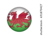 wales flag button | Shutterstock .eps vector #651870427