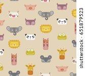 little animals characters | Shutterstock .eps vector #651879523