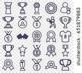 champion icons set. set of 25... | Shutterstock .eps vector #651879883