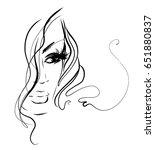 vector  stylish  original hand... | Shutterstock .eps vector #651880837