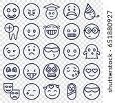 smile icons set. set of 25... | Shutterstock .eps vector #651880927