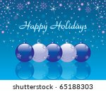 happy holidays background vector | Shutterstock .eps vector #65188303