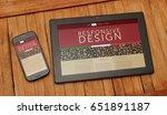 responsive design web page. top ... | Shutterstock . vector #651891187